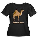 Camel Love Women's Plus Size Scoop Neck Dark T-Shi