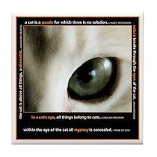 Mystery Cat's Eye Tile Coaster