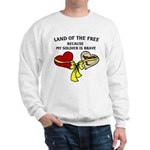 Land of the Free 2 hearts Sweatshirt
