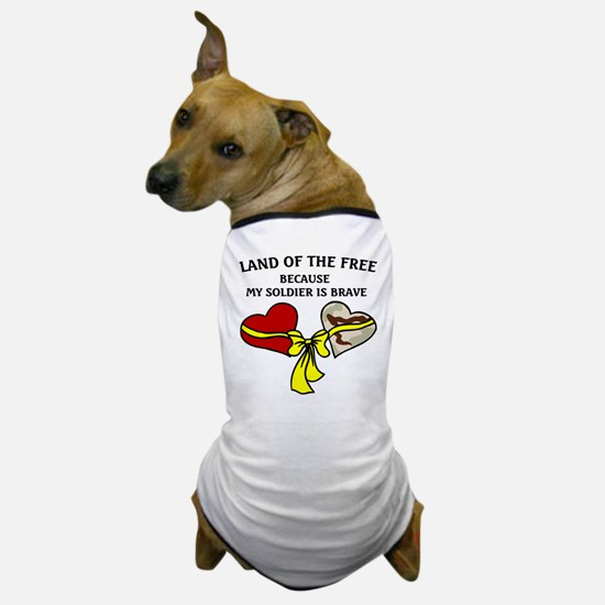 Land of the Free 2 hearts Dog T-Shirt