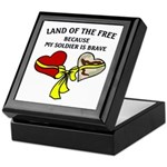 Land of the Free 2 hearts Keepsake Box