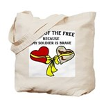 Land of the Free 2 hearts Tote Bag