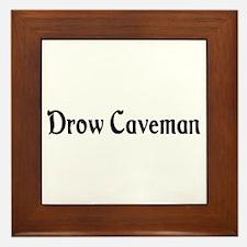 Drow Caveman Framed Tile