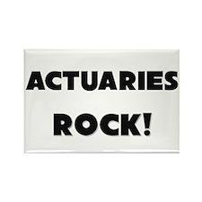 Actuaries ROCK Rectangle Magnet