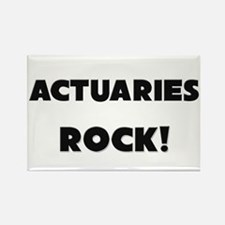 Actuaries ROCK Rectangle Magnet