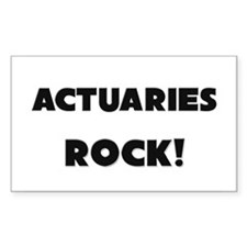 Actuaries ROCK Rectangle Decal