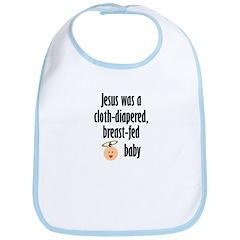Jesus cloth-diapered breast-fed Bib