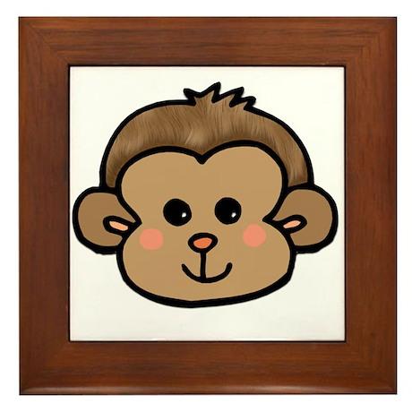 Monkey Face Framed Tile