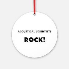 Acoustical Scientists ROCK Ornament (Round)