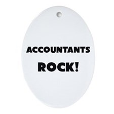 Accountants ROCK Oval Ornament