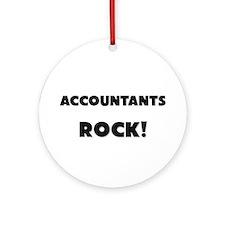 Accountants ROCK Ornament (Round)