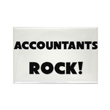 Accountants ROCK Rectangle Magnet