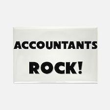 Accountants ROCK Rectangle Magnet