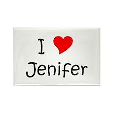Unique Jenifer Rectangle Magnet