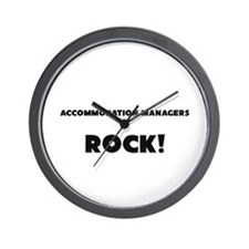 Accommodation Managers ROCK Wall Clock