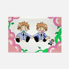 Hikaru and Kaoru Rectangle Magnet