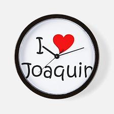 Cute I love joaquin Wall Clock