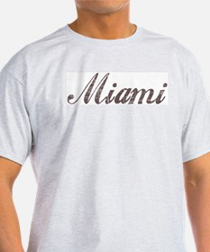 Vintage Miami Ash Grey T-Shirt