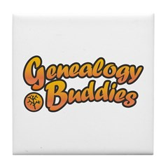 Genealogy Buddies Tile Coaster