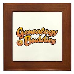 Genealogy Buddies Framed Tile
