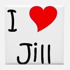 Unique I love jill Tile Coaster