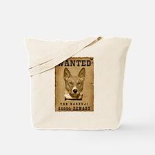 """Wanted"" Basenji Tote Bag"