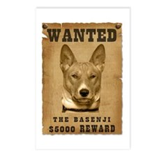 """Wanted"" Basenji Postcards (Package of 8)"