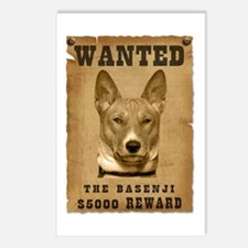 """""""Wanted"""" Basenji Postcards (Package of 8)"""