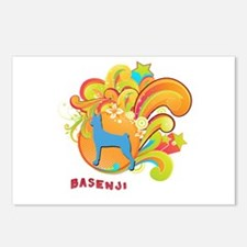 Groovy Basenji Postcards (Package of 8)