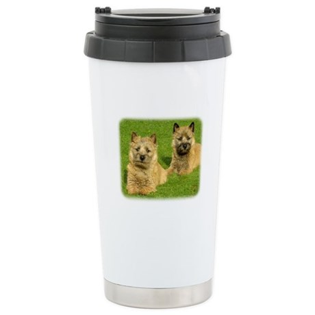 Cairn Terrier puppies 9W048D-035 Stainless Steel T