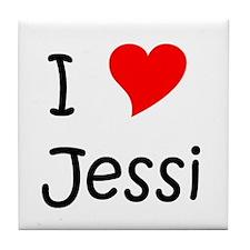 Cute Jessie Tile Coaster