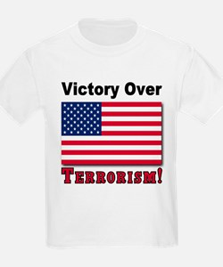 Victory Over Terrorism USA Flag T-Shirt