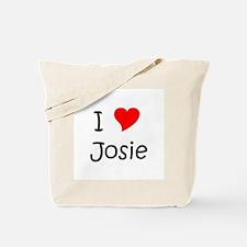 Unique I love josie Tote Bag