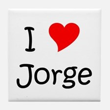 Cute I love jorge Tile Coaster