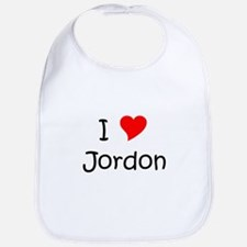 Cute I love jordon Bib