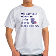 I Miss New Orleans Ash Grey T-Shirt