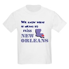 I Miss New Orleans Kids T-Shirt
