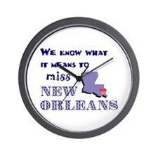 I Miss New Orleans Wall Clock