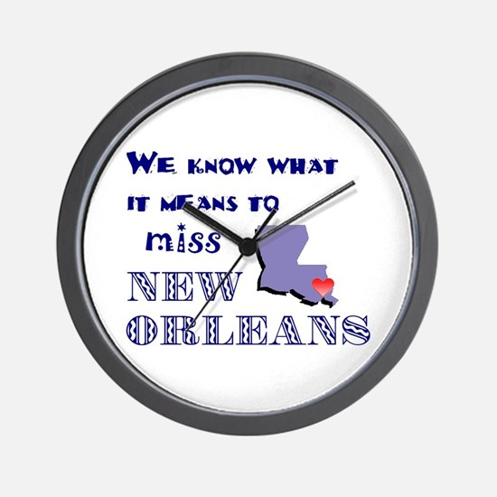 I Miss New Orleans Wall Clock