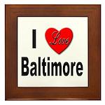 I Love Baltimore Framed Tile
