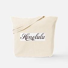 Vintage Honolulu Tote Bag