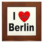 I Love Berlin Framed Tile