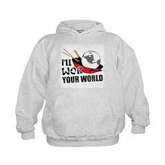 I'll Wok Your World Kids Hoodie