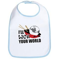 I'll Wok Your World Bib