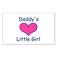 DADDYS LITTLE GIRL Rectangle Decal