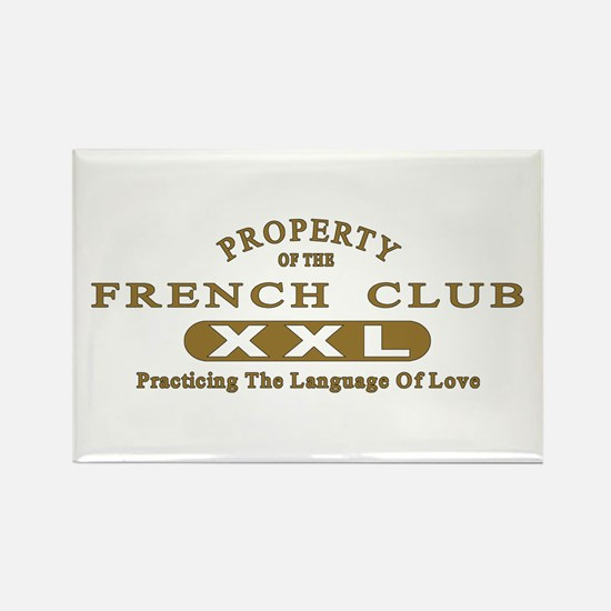 French Club Rectangle Magnet