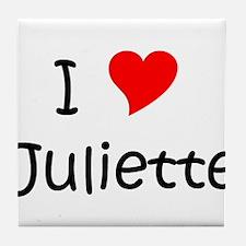 Unique I love juliette Tile Coaster