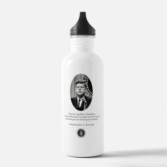 JFK QUOTE Water Bottle