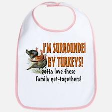 Surrounded by Turkeys Bib