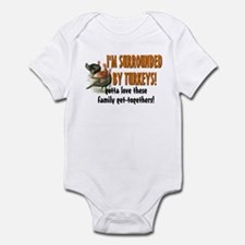 Surrounded by Turkeys Infant Bodysuit